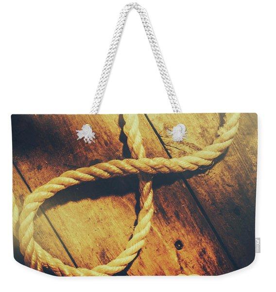 Nautical Infinity Weekender Tote Bag