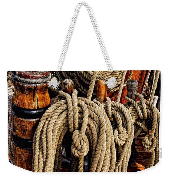Nautical Knots 17 Oil Weekender Tote Bag