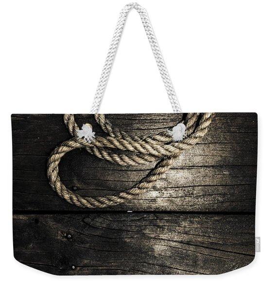 Nautical Rope On Boat Deck. Maritime Knots Weekender Tote Bag