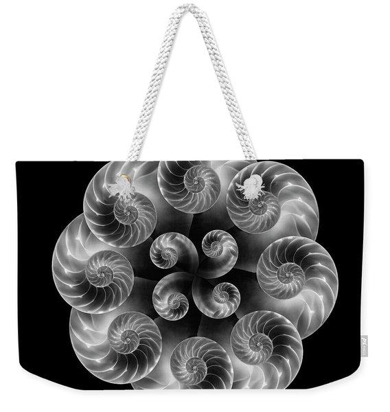 Nautilus Abstract Art Weekender Tote Bag