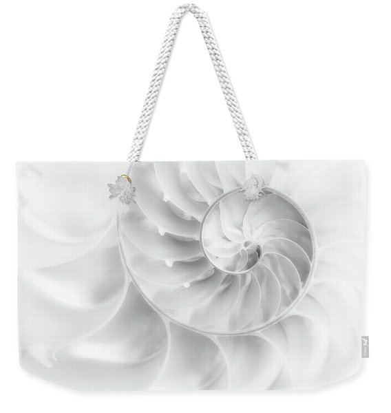 Nautilus Shell In High Key Weekender Tote Bag