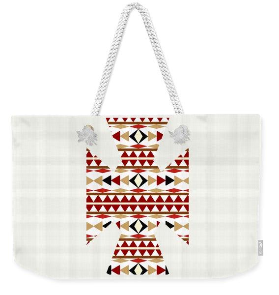 Navajo White Pattern Art Weekender Tote Bag