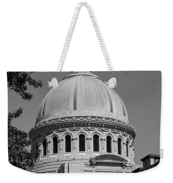 Naval Academy Chapel - Black And White Weekender Tote Bag