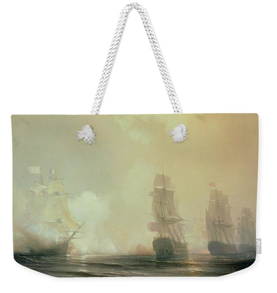 Naval Battle In Chesapeake Bay Weekender Tote Bag