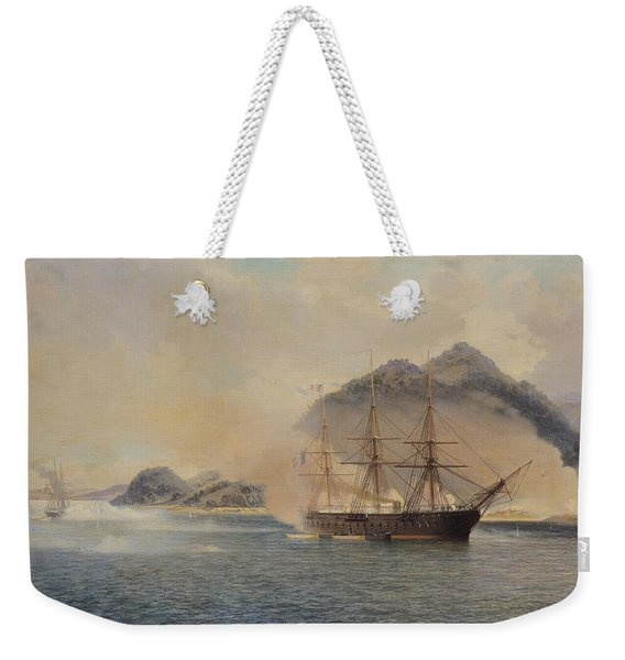 Naval Battle Of The Strait Of Shimonoseki Weekender Tote Bag