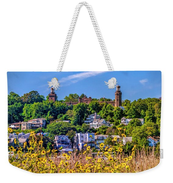 Navesink Light On The Hill Weekender Tote Bag