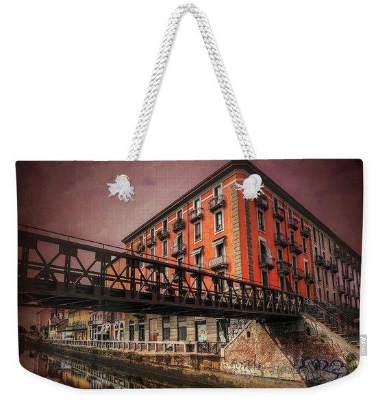 Naviglio Grande Milan Italy Weekender Tote Bag