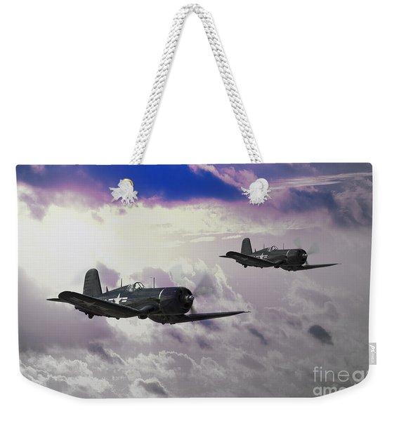 Navy Corsair Weekender Tote Bag