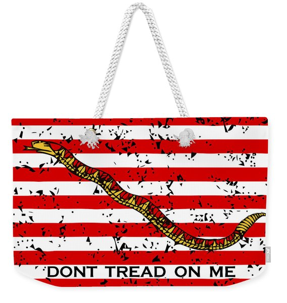 Navy Jack Flag - Don't Tread On Me Weekender Tote Bag