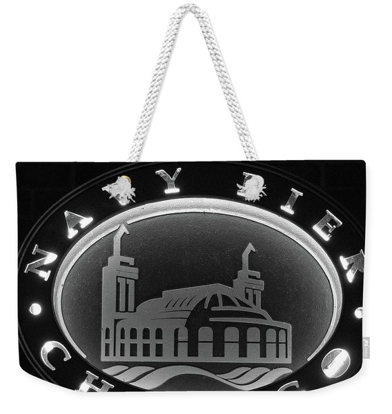 Navy Pier Chicago Sign Weekender Tote Bag