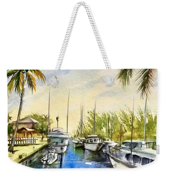 Near The Canal Weekender Tote Bag