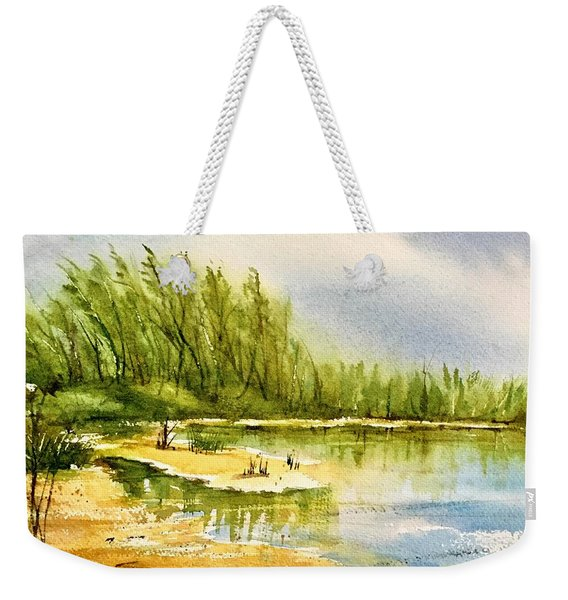 Near The Lake 4 Weekender Tote Bag