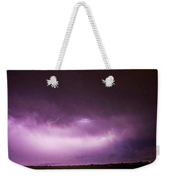 Nebraska Night Thunderstorms 013 Weekender Tote Bag