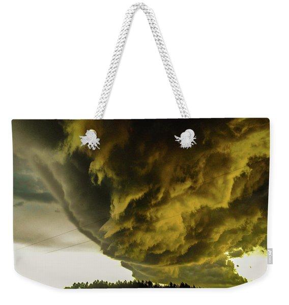 Nebraska Supercell, Arcus, Shelf Cloud, Remastered 018 Weekender Tote Bag