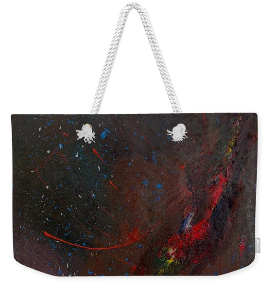 Weekender Tote Bag featuring the painting Nebula by Michael Lucarelli