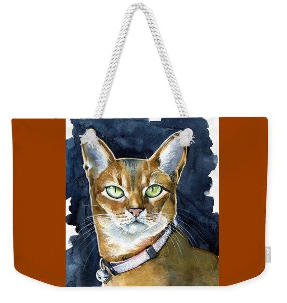Nefertiti - Abyssinian Cat Portrait Weekender Tote Bag