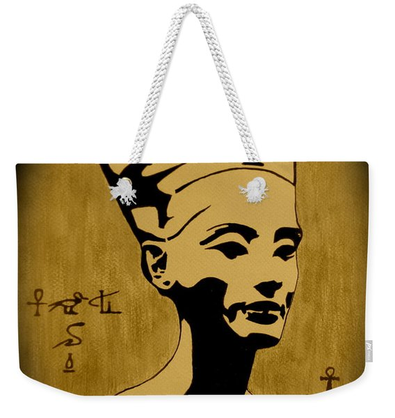 Nefertiti Egyptian Queen Weekender Tote Bag