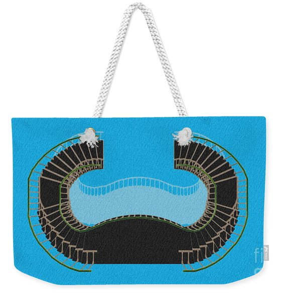 Negative Stair 45 Blue Background Architect Architecture Weekender Tote Bag