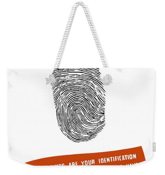 Neighborhood Fingerprint Station Weekender Tote Bag