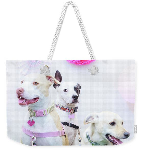 Nellie, Bella And Duke Weekender Tote Bag