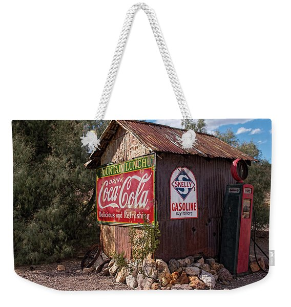 Nelson Ghost Town Gas Station Weekender Tote Bag