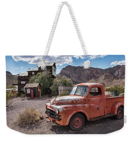 Nelson Old Dodge In The Desert Weekender Tote Bag
