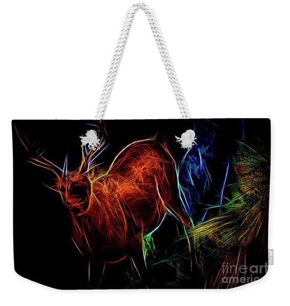 Neon Buck Weekender Tote Bag