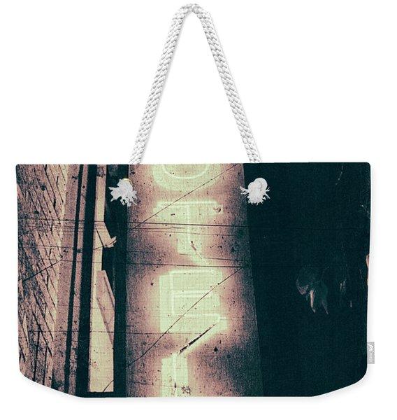 Neon Coffin Weekender Tote Bag