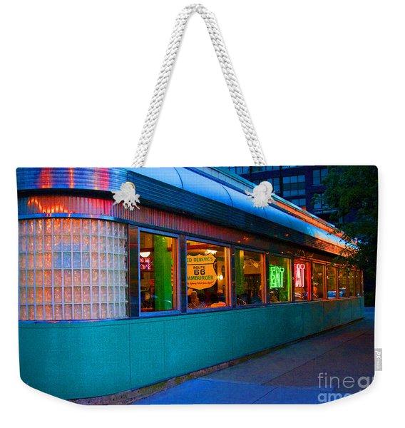 Neon Diner Weekender Tote Bag