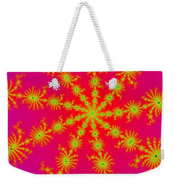 Neon Fractals Weekender Tote Bag