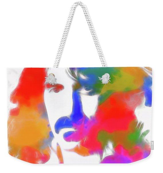 Neon Frank Zappa Weekender Tote Bag