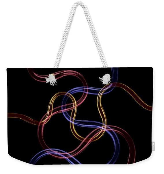Weekender Tote Bag featuring the photograph Neon Pattern 008 by Clayton Bastiani