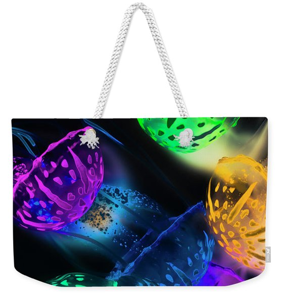 Neon Sea Life Weekender Tote Bag