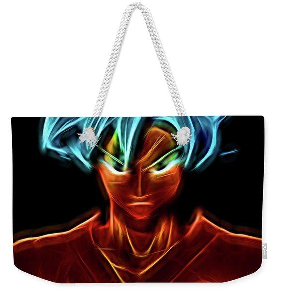Neon Ss God Goku Weekender Tote Bag