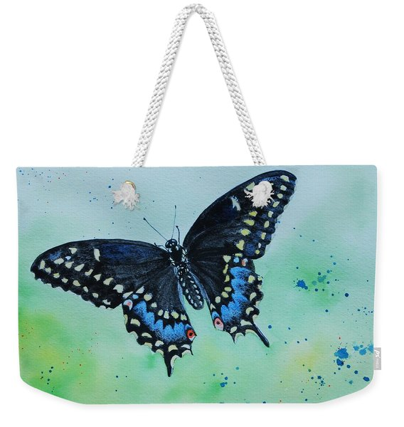 Neon Swallowtail Weekender Tote Bag