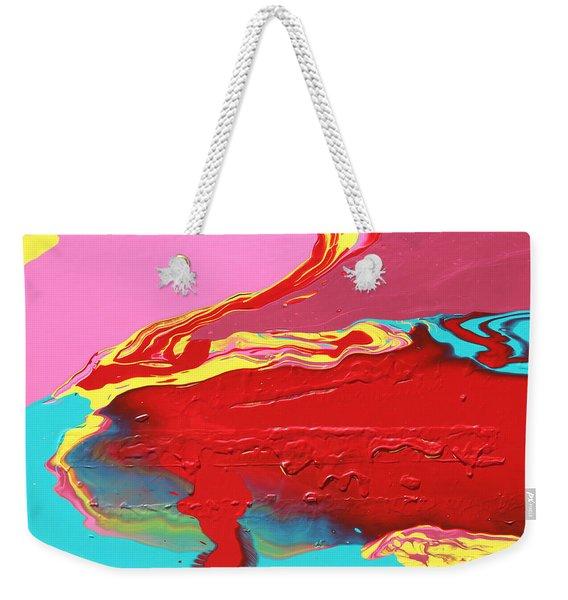 Neon Tide Weekender Tote Bag