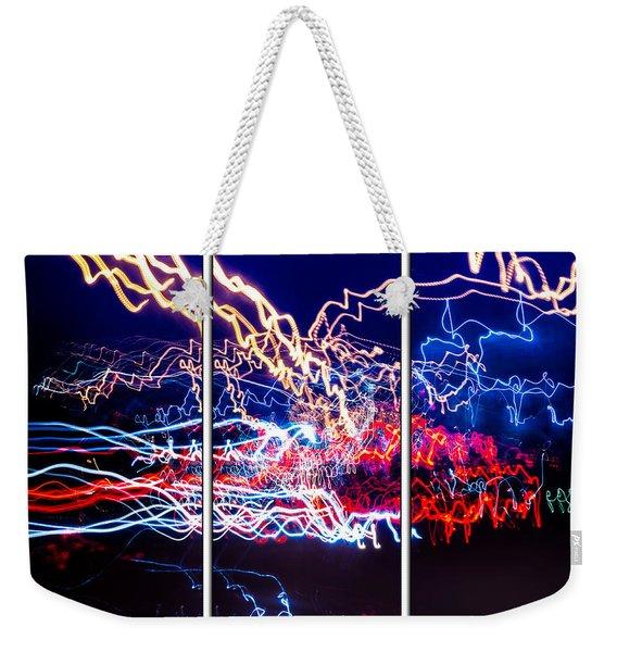 Neon Ufa Triptych Number 1 Weekender Tote Bag