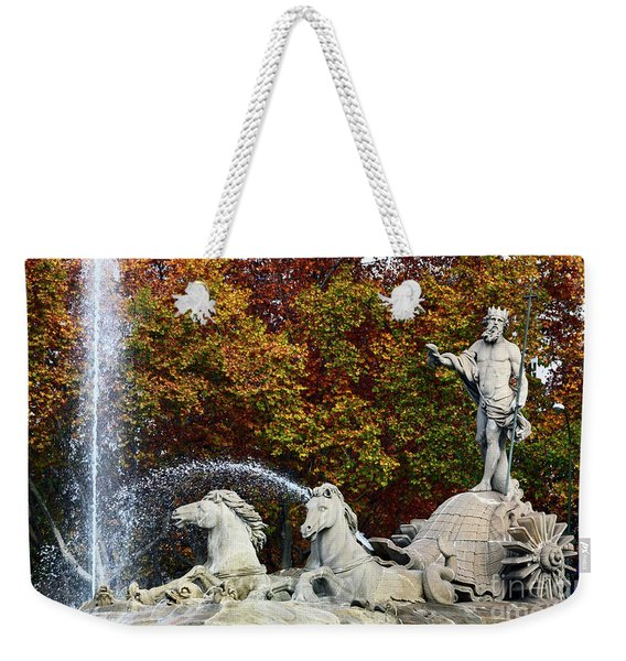 Neptune Fountain Paseo Del Prado Madrid Weekender Tote Bag