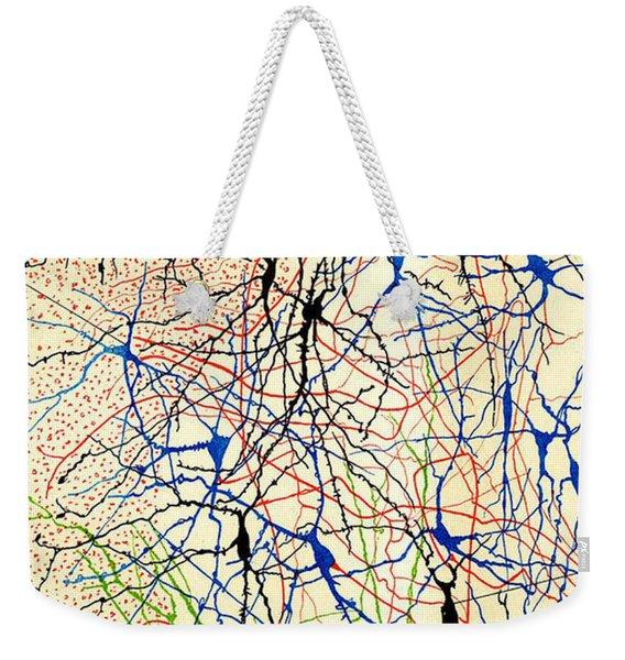 Nerve Cells Santiago Ramon Y Cajal Weekender Tote Bag