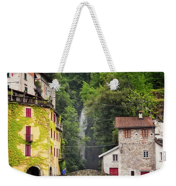 Nesso On Lake Como Italy Weekender Tote Bag