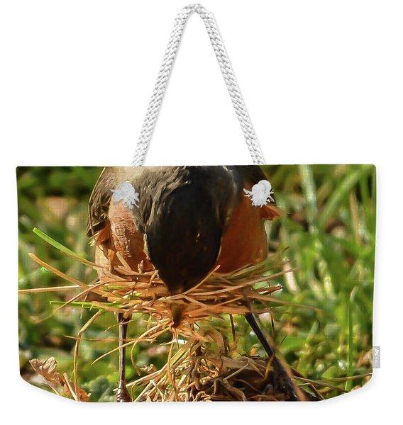 Nest Building Weekender Tote Bag