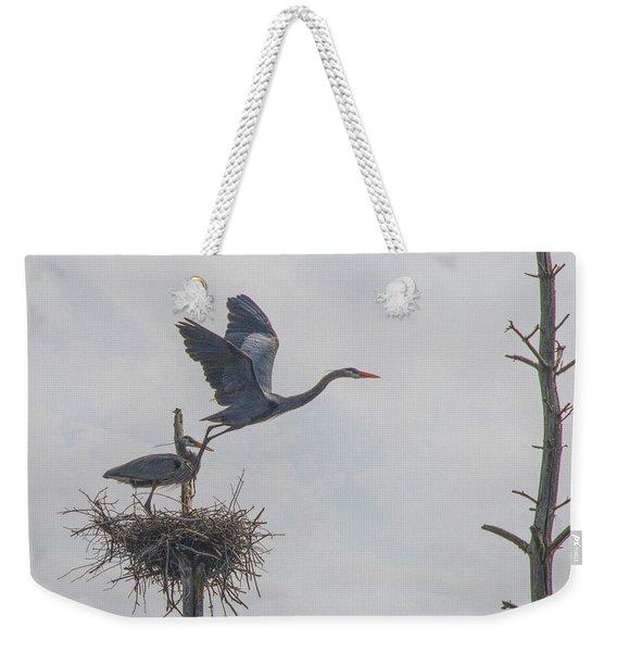 Nesting Great Blue Heron Weekender Tote Bag