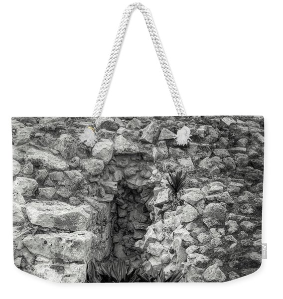 Nestle Rock B/w Weekender Tote Bag