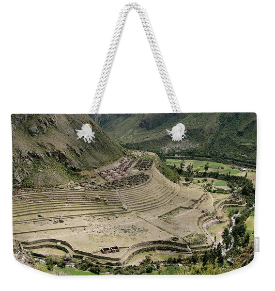 Nestled At The Foot Of A Mountain Weekender Tote Bag