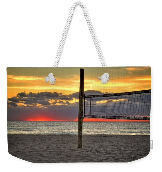 Netting The Sunrise Weekender Tote Bag