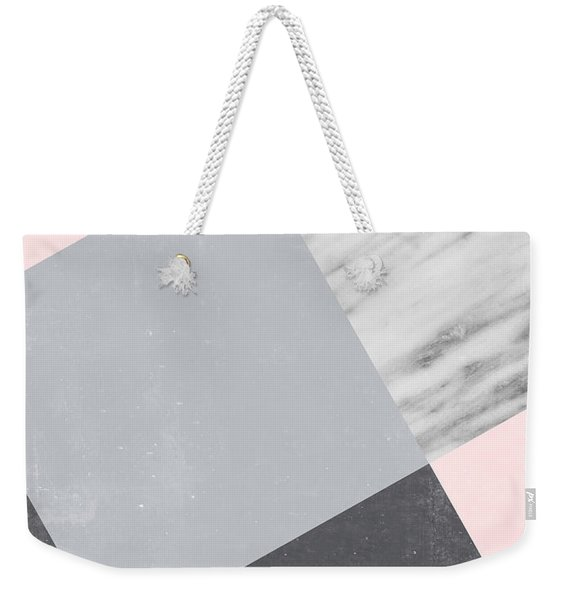 Neutral Collage With Marble Weekender Tote Bag