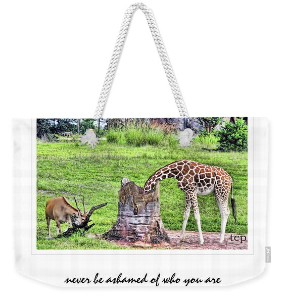 Never Be Ashamed Weekender Tote Bag