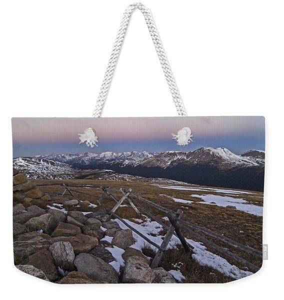 Never Summer Range Weekender Tote Bag