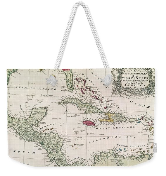 New And Accurate Map Of The West Indies Weekender Tote Bag
