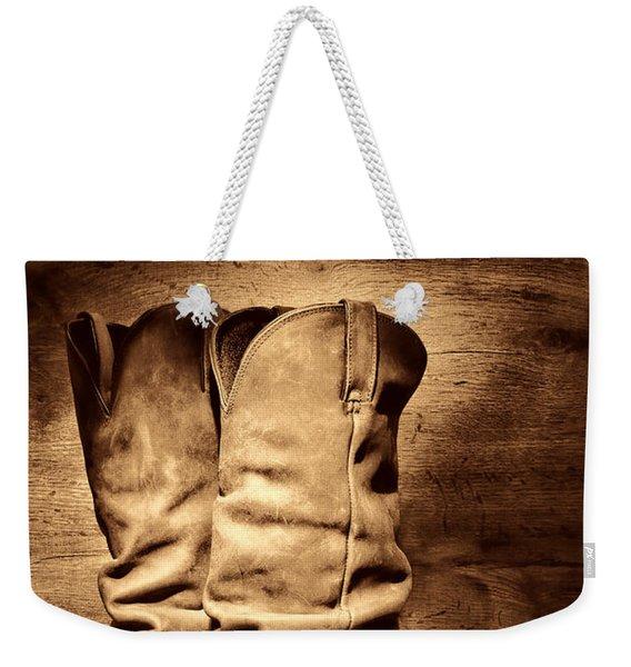 New Cowboy Boots Weekender Tote Bag